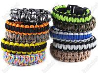 Wholesale Cobra PARACORD BRACELETS KIT Military Emergency Survival Bracelet King Charm Bracelets Unisex Colors