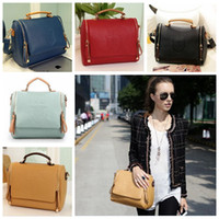 leather handbags - Women British Style Tote Bags Crown Print Messenger Bags Cross Body Leather Shoulder Bags Leather Handbags