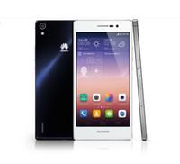 Original <b>Huawei</b> Ascend P7 Quad-Core de 8.0 megapíxeles + 13.0MP 5 pulgadas 2GB + 16GB 4G LTE de 1.8GHz cámaras 1920 * 1080 Blueteech 4.0 Teléfonos inteligentes DHL EL ccsme