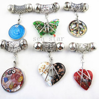 Other accessories jewellery wholesale - Fashion DIY Mixed Jewellery Pendant Scarf Accessories Zinc Alloy Frame Charm Shiny Glass SJ012