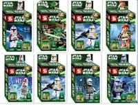 Garçons filles Jouets Cadeaux SY195 enfants assemblés jouets éducatifs poupées poupée Star Wars Clone Wars vente chaude Figurines d'action