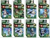 al por mayor juguetes para los niños de las muchachas-Muchachos muchachas Juguetes Regalos SY195 niños montados juguetes educativos muñecas muñeca Star Wars Clone Wars venta caliente Figuras de Acción