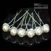 Wholesale Fashion Jewelry Wedding Tiaras Hair Accessories Swarovski Crystal Pearl Hair Pins Cheap Head Piece