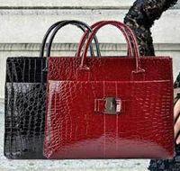 Wholesale 2014 Fashion New Women Handbag Single Shoulder Bag Stone Snake Skin Crocodile Grain Retro PU Handbags Pure Black Red Styles pc