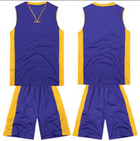 Basketball basketball jersey uniform - 2014 Adults Custom Basketball Jerseys Mens Sleeveless Sport Shirt Short Uniforms Purple Sportswear able mix any color size