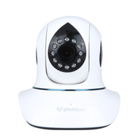Wholesale Vstarcam T7838WIP H P HD IP Camera Plug Play P2P PnP Network Webcam Pan Tilt Wireless Wifi Micro SD Card Security IR Cut S198