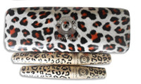 Wholesale New Waterproof LOVE ALPHA Double Brand Mascara with Panther Leopard Case Set Mascaras Set