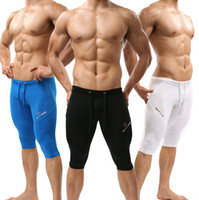 Wholesale Men s Tight Mid high Shorts for Swimming and Cycling Colorful Skinny Swim Jammers Body Suits High Quality Cycle Pants