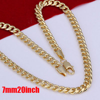 24k gold necklace chain - 24K Gold plated mm Curb Chains Men s Necklace Gold Necklace High Quality inch