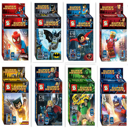 Superheroes building blocks assembled toys children educational toys SY180 Boys girls Toys & Gifts Action Figures hot sell