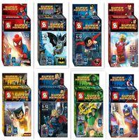 Superheroes building blocks assembled toys children educatio...