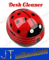 Cyclone Hand Held Dry Mini Ladybug Desktop Coffee Table Vacuum Cleaner Dust Collector for Home Office MYY2483A