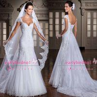 Reference Images dress shirts - 2014 Vintage Wedding Dresses Sexy New V Neck Cap Sleeve Applique Ruffle Lace Tulle detachable Shirt Beach Bridal Gowns LT120 noivas