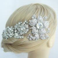 Cheap Hair accessories Bridal Flower Orchid Hair Comb w Rhinestone Crystal FSE04704C1
