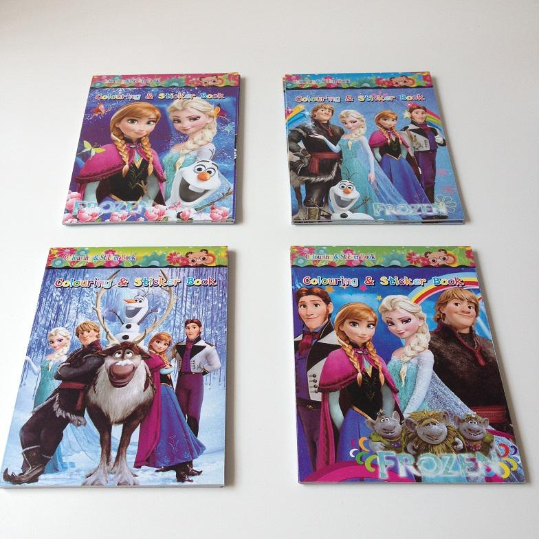 New Hot Sale Cartoon Frozen Sticker Kids Coloring Book