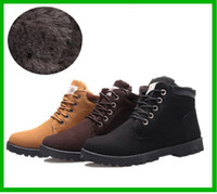 Wholesale Hot Selling New Men Winter Boots Men s Martin Snow Boots Waterproof Lace up Rubber Boots