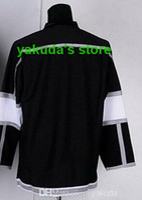 Ice Hockey Men Full Cheap Wholesale Stanley Cup Finals Ice Hockey Jersey LAK Blank Black Jerseys Embroidery logos Jerseys Tops Sport Jersey High Quality