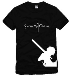 Free shipping new arrival cotton t-shirt Japanese anime Sword Art Online Printed short sleeve t-shirt anime Tee 100% cotton 6 color
