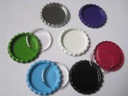 "1"" 25.4MM 100Pcs Round Metal Flattened Chrome Bottle Cap & 100Pcs Matching Clear Circle Round Epoxy Dome Sticker"