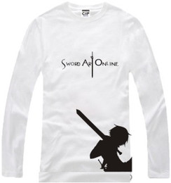 Free shipping new arrival Japanese anime Sword Art Online Printed long-sleeve t-shirt anime Tee 100% cotton 6 color