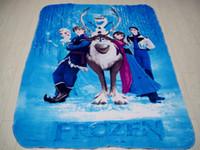 Wholesale 2014 Very Nice Frozen Blanket Anna Elsa Girl Boy Children s Nursery Bedding Cheap In Stock FS082