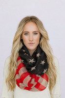 olympic flag - American Flag Infinity Scarf Winter Olympics Tattered Patriotic July th Scarves Red White Blue Infinity Flag Scar