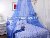Polyester / Cotton Cotton Column ELEGANT ROUND LACE INSECT BED CANOPY NETTING CURTAIN DOME MOSQUITO NET OUTDOOR