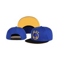 Compra Sombreros de los deportes de la ciudad-Guerreros Caps 2014 Nueva Baloncesto plana Brim Blue Caps Snapback Ciudad Ball Caps Sporting Sombreros de moda de verano Caps orden de la mezcla