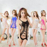 Wholesale Sexy Hot Fishnet Open Crotch Body Stocking Bodysuit Nightwear Lingerie Dress
