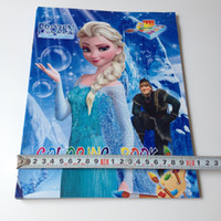 Wholesale A4 SIZE Frozen Stickers Queen size coloring book Children Coloring Books Child Art of Enlightenment book opp packing