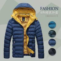men winter down coat jacket - 2014 Hot sale Men Winter Coat Jacket Down Coat Parka Outdoor Wear High Quality Plus Size M XXXL YLT105