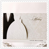 Wholesale The bride and The bridegroom invitations wedding invitations custom printing any text
