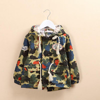 Wholesale Hot Sale New Children s Tench coats kids coats boys camouflage hoodie trench coat children s outwear