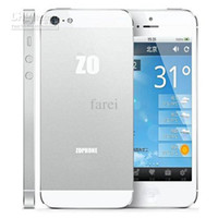 Wholesale MM Body Zophone I5 Smart Phone Inch HD Screen MTK6577 Dual Core Android IOS Menu Wifi GPS