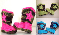 Unisex arrival booty - 6 off Fashion crochet baby camouflage cowboy boots Baby booty Cotton shoes NEW ARRIVAL BABY shoes pairs
