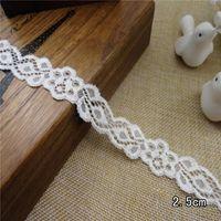 Wholesale White flower Elastic stretch Lace trim DIY Craft hair accesory headband sewing cm inch