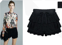 Wholesale PLUS SIZE HIGH GRADE LACE SHORTS SKIRTS fashion women s cotton tiered lace skirts pants dressy shorts BSH