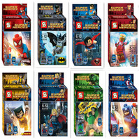 Plastic action figures superheroes - Toys Gifts Action Figures Cartoon Anime Movies Accessories Superheroes building blocks assembled toys children educational toys SY180