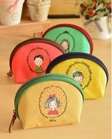 Coin Purses corporate gift - New Korea Oxford Coin Purse Cute Keychain Keys Wallet Purse Corporate Gifts Fashion Bags Handbag Phone Bag Christmas Gift
