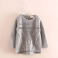 Wholesale Girls Pullover Fashion Wool Sweaters Children Sweater Pullover Kids Clothing Knitted Sweaters Kids Sweaters Girl Clothes Children Pullover