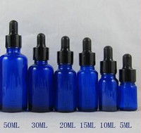 Cheap Wholesale - Empty Blue Glass Bottles 15ml with Black Caps Dropper for eGo E Liquid Oil Bottle for Electronic Cigarette