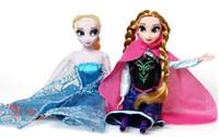 Wholesale DHL new generation of frozen Elsa Anna Olaf Snowman Set Playset Dolls Movable Joints Frozen Princesses display Toys Kids Best Gift