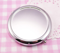 metal compact mirror - New pocket mirror Silver blank compact mirrors Great for DIY cosmetic makeup mirror Wedding Party Gift M070S X