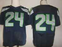 Football Men Short Elite American Football Jerseys #24 LYNCH New Player Size 40-56 American Athletic Jerseys High Quality New Arrival Football Jerseys
