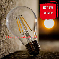Wholesale NEW High Power E27 W W W W W W W Chips LED Bulb Light Lamps Glass Globe Lamp Edison Filament bulb WarmWhite V V