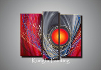 More Panel Oil Painting Abstract 3-7008 100% Hand-painted unframed good quality modern abstract huge oil painting canvas sale art 3 panel wall art