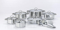 Wholesale New Home Kitchen Dining Piece Stainless Steel glass lid Cookware Set frying pan soup pot saucepan casserole
