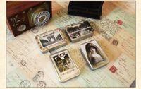 Valentine's Day People Bentoy Bentoy Iron Box Card Vintage lomo mini postcards 64 pcs set greeting card Birthday Card gift card Free Shipping