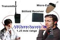 Wholesale 2014 powerful watt Real metes radio mini invisible Earpiece Walkie Talkie Wallet Hidden Wireless Radio Box