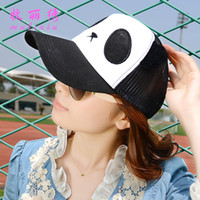 Wholesale Snapback hats Fan Bingbing same paragraph hats Super Meng cartoon panda cap cotton baseball cap mesh hat lady baseball caps